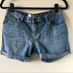 Mossimo Denim Boyfriend Shorts in Medium Wash
